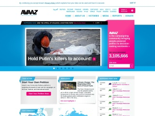 Screenshot for avaaz.org