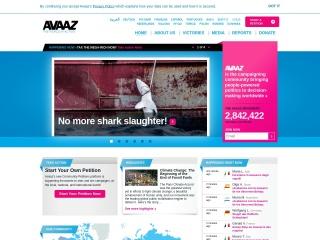 avaaz.org үшін скриншот