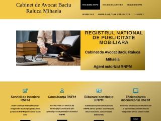 Screenshot al site-ului avbaciu.ro
