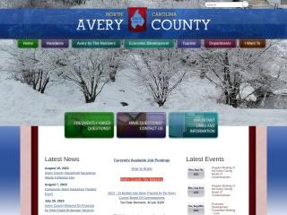 Screenshot for averycountync.gov