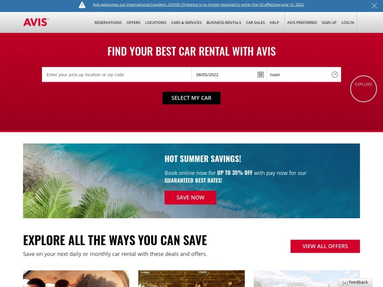 Avis Rent A Car Coupon Codes