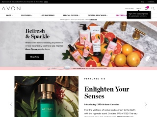Screenshot for avon.com