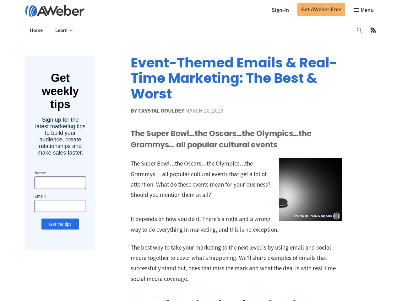 Event-Themed Emails & Real-Time Marketing: The Best & Worst