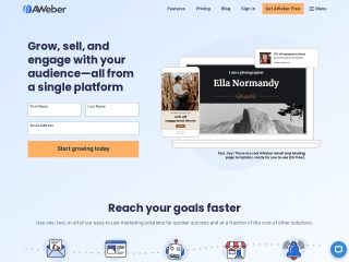 Screenshot for aweber.com