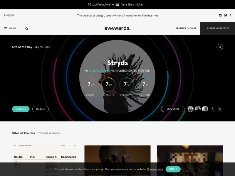 Awwwards – Website Awards – Best Web Design Trends