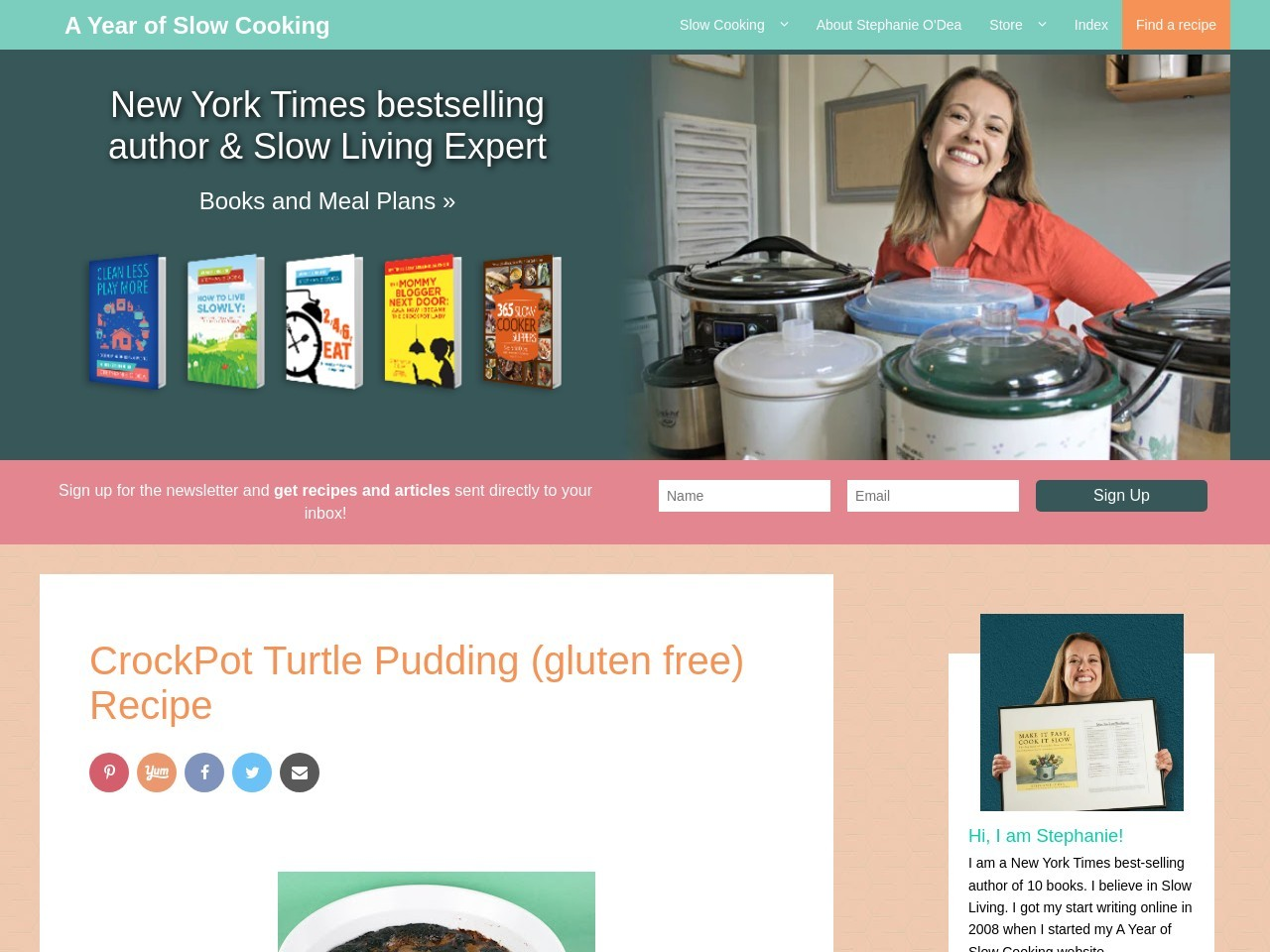 A Year of Slow Cooking: CrockPot Turtle Pudding (gluten …