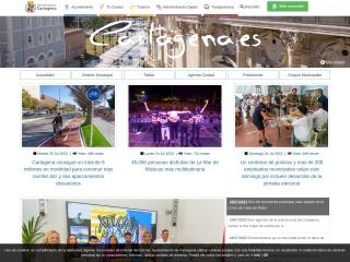 Captura de pantalla para ayto-cartagena.es
