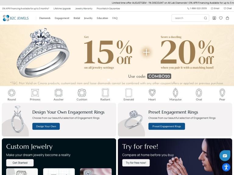 B2C Jewels LLC screenshot