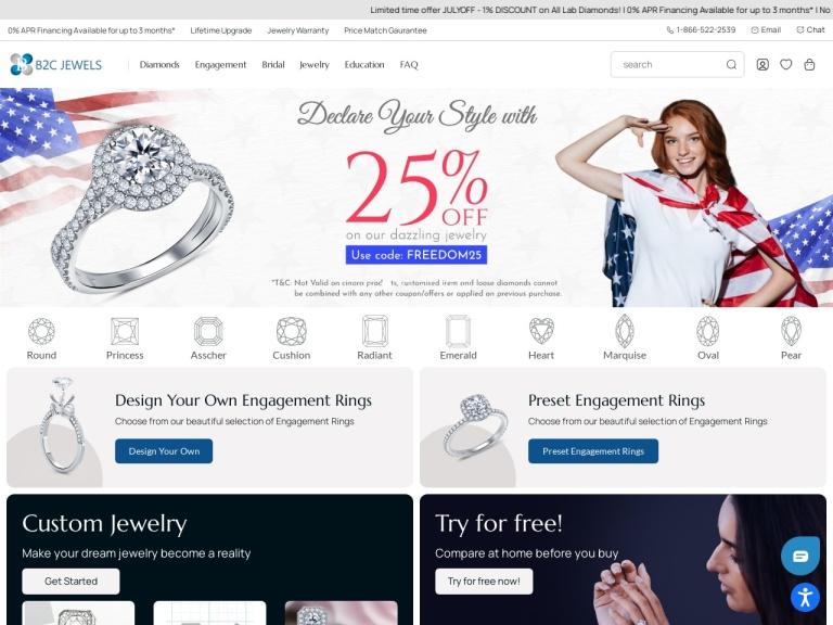 B2C Jewels screenshot