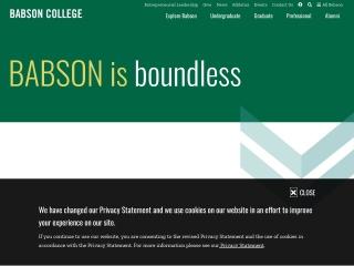Screenshot for babson.edu