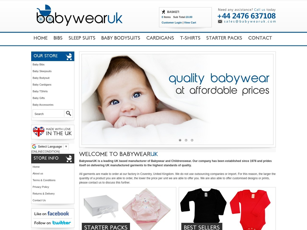 Babywear UK – British Manufacturer Of Baby Clothing