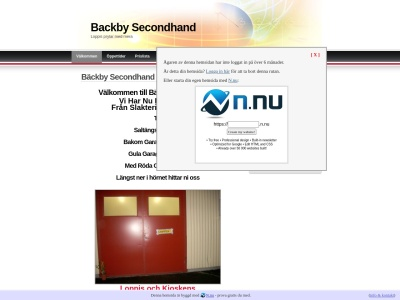 www.backbysecondhand.n.nu