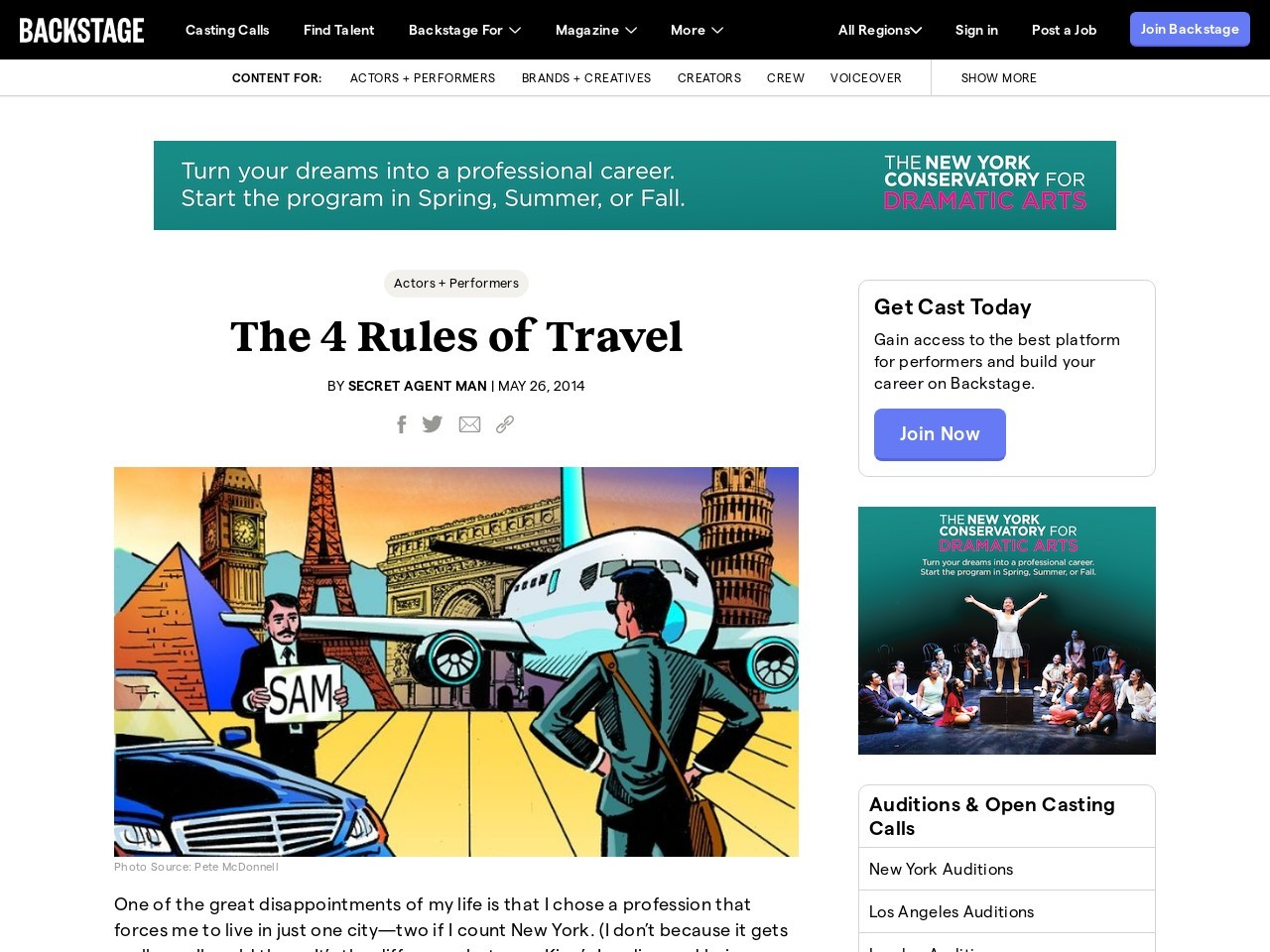 The 4 Rules of Travel – Backstage