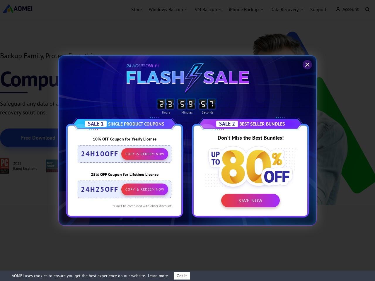 AOMEI Backupper Technician Plus + Lifetime Free Upgrades – Exclusive Coupon