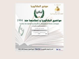 Capture d'écran pour bacweb.tn