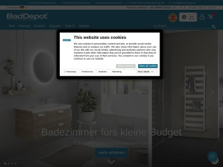 Screenshot der Website baddepot.de