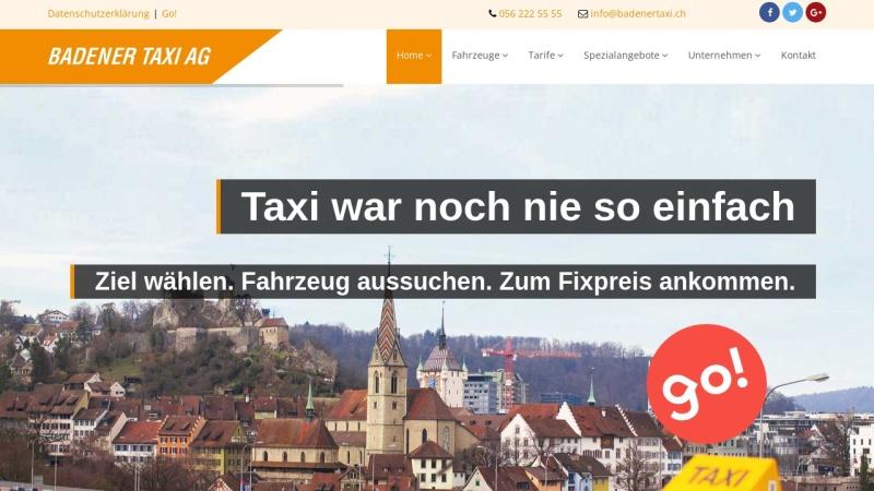www.badenertaxi.ch Vorschau, Badener Taxi AG