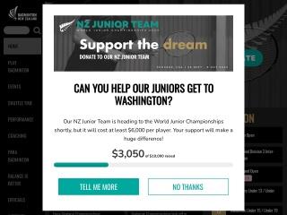Screenshot for badminton.org.nz