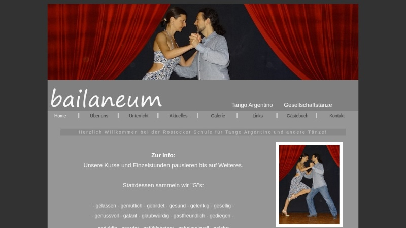 www.bailaneum.de Vorschau, Tanzschule Bailaneum
