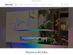 Baliandboo coupon codes November 2018