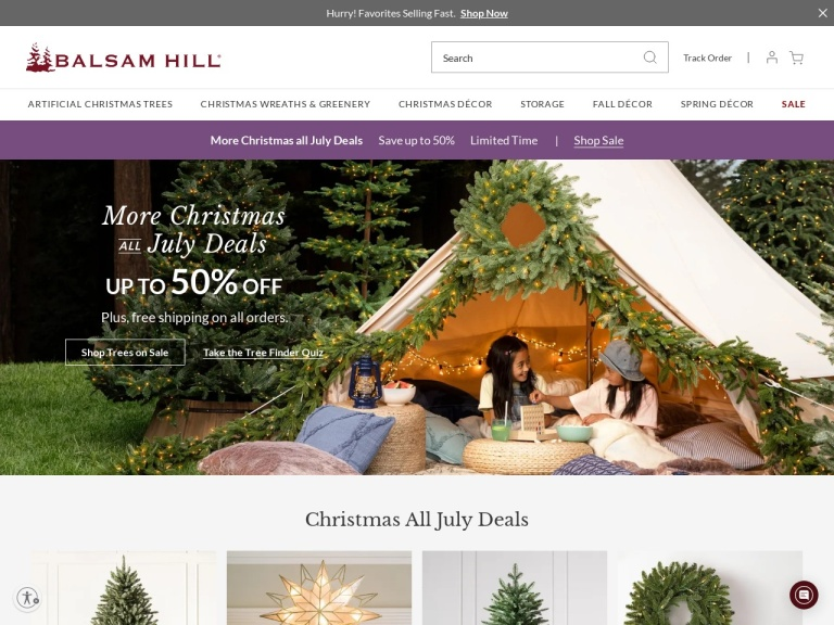 Balsam Hill-$100 off orders $1299+