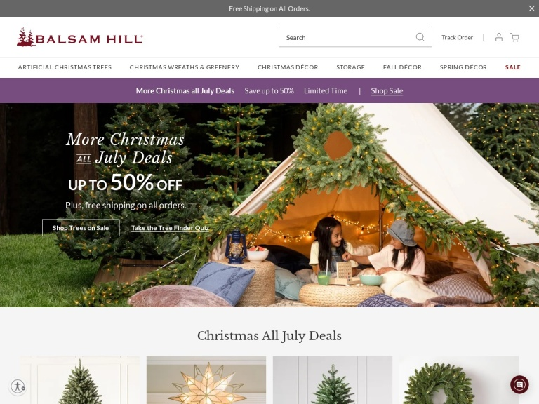 Balsam Hill-$35 off orders $499+