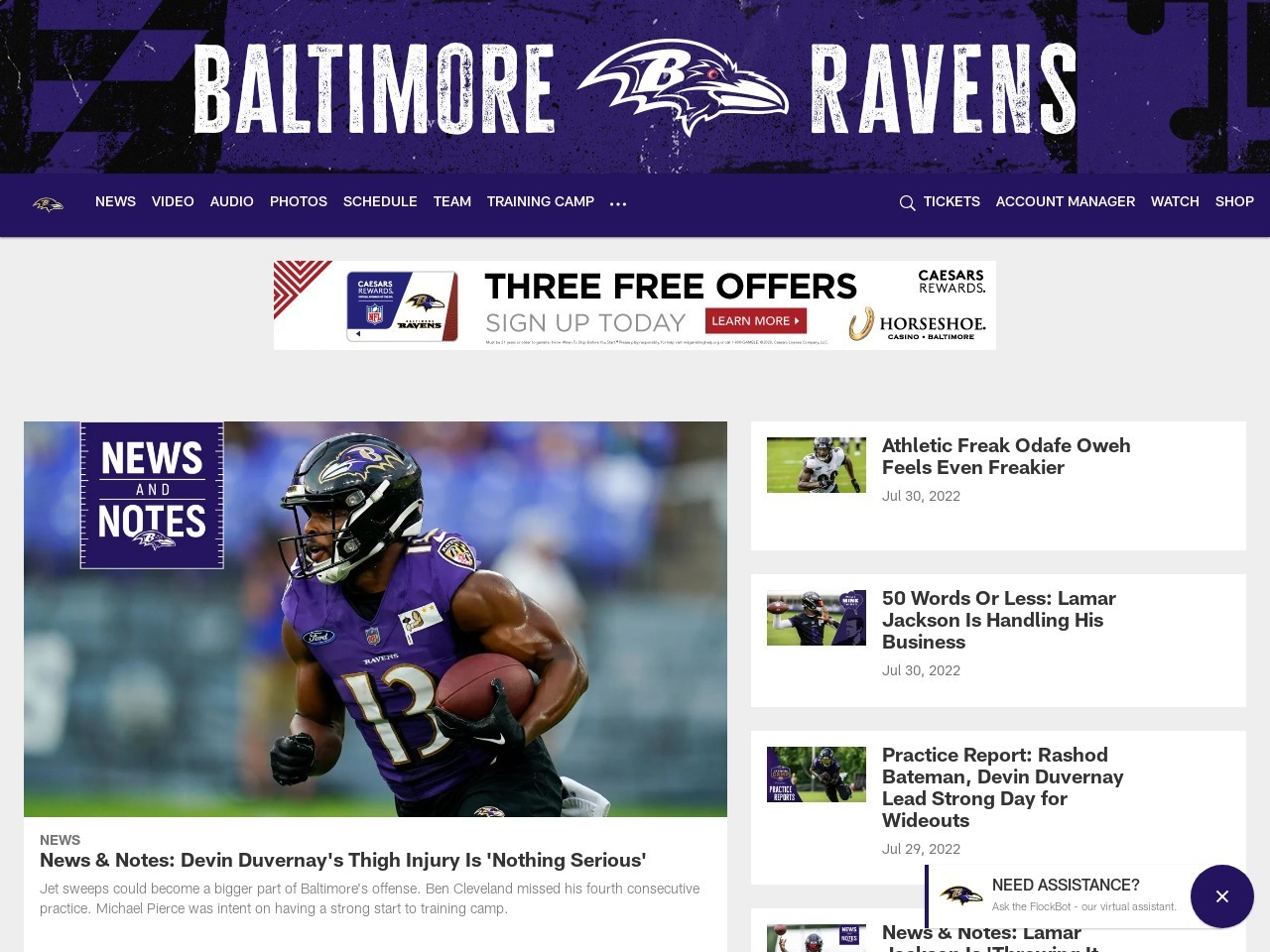 Late For Work 8/21: Ravens Fans More Loyal Than Steelers Fans