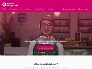 Captura de pantalla para bancoguayaquil.com