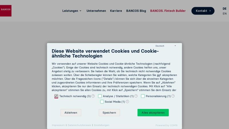 www.bancos.com Vorschau, G&H Bankensoftware AG