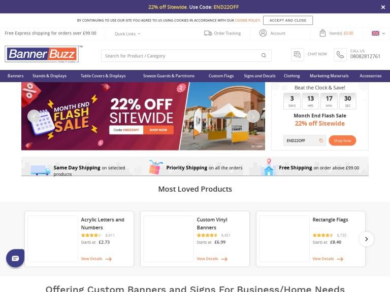 Banner Buzz UK screenshot