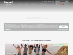 Barcelo Hotels and Resorts screenshot