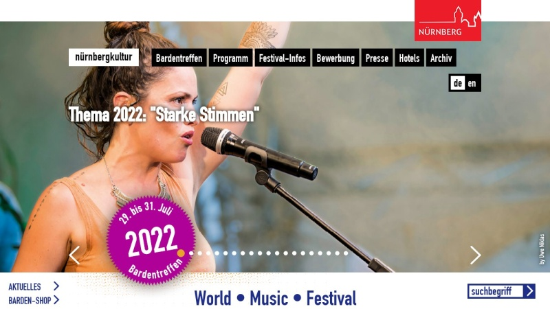 www.bardentreffen.de Vorschau, Bardentreffen Nürnberg