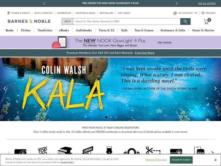 Barnes and Noble screenshot