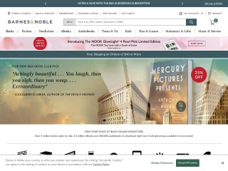 screenshot barnesandnoble.com