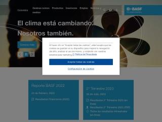 Captura de pantalla para basf.com.co