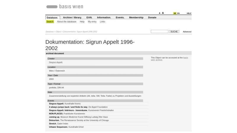 www.basis-wien.at Vorschau, Sigrun Appelt