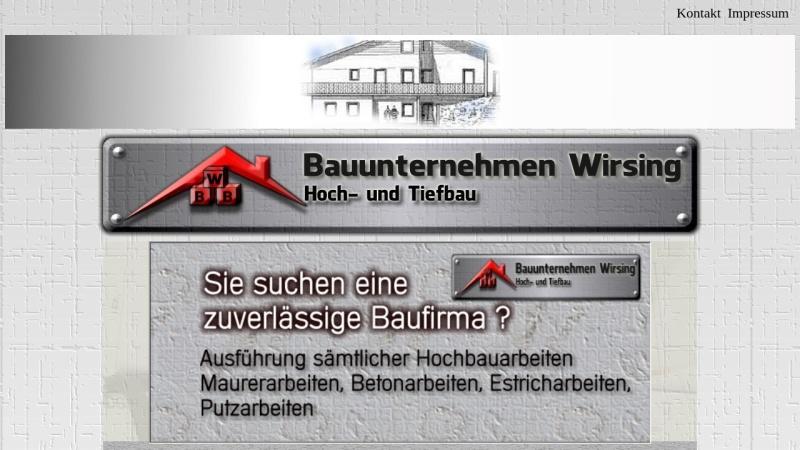 www.bau-eisenach.de Vorschau, Bauunternehmen Wirsing