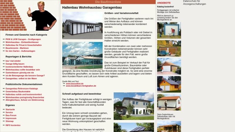 www.baufirmenliste.de Vorschau, baufirmenliste.de