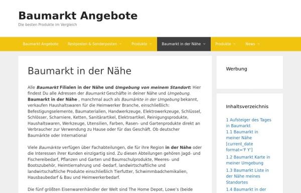 Vorschau von www.baumarkt-suche.de, Baumarkt Verzeichnis