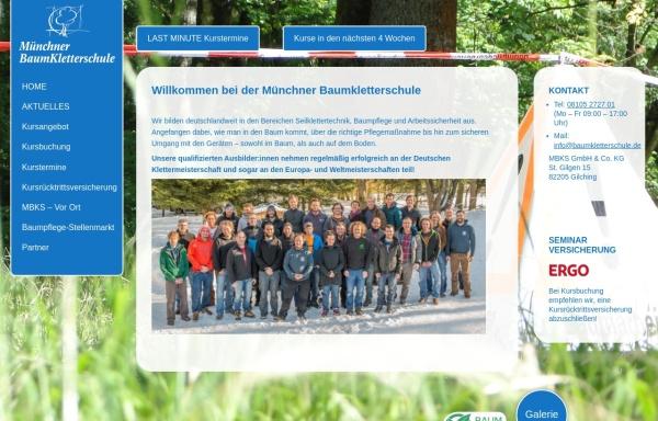 Vorschau von www.baumkletterschule.de, Münchner BaumkletterSchule, Johannes Bilharz und Bruno Erhart GbR