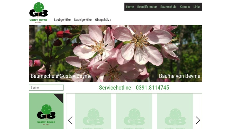 www.baumschule-beyme.de Vorschau, Beyme GbR