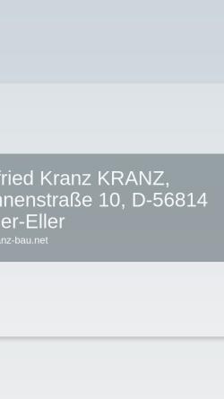 Vorschau der mobilen Webseite www.bauunternehmung-kranz.de, Kranz Bauunternehmung