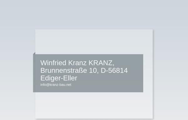 Vorschau von www.bauunternehmung-kranz.de, Kranz Bauunternehmung