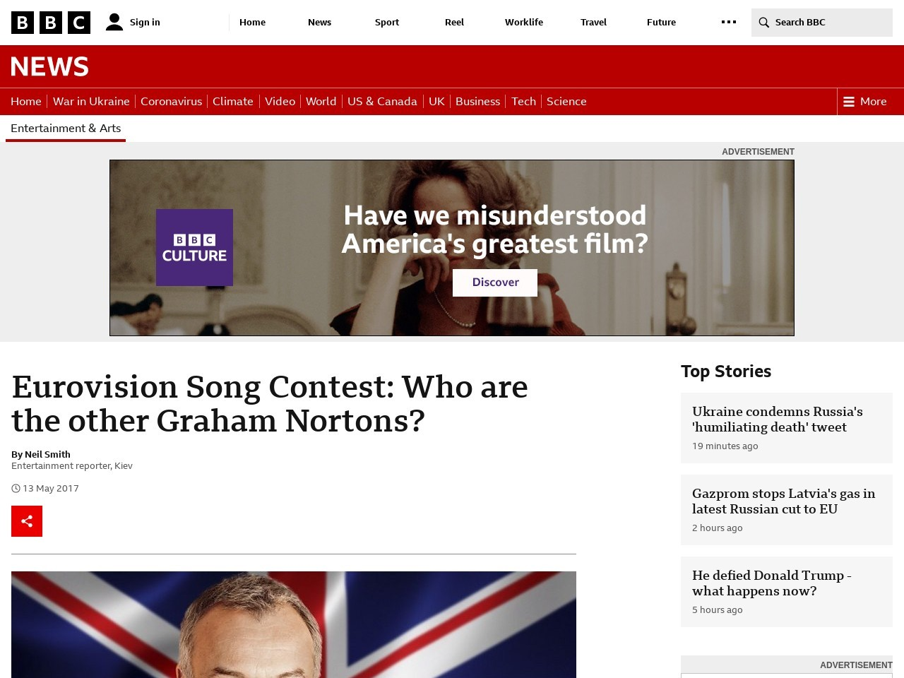 Eurovision Song Contest: Who are the other Graham Nortons?