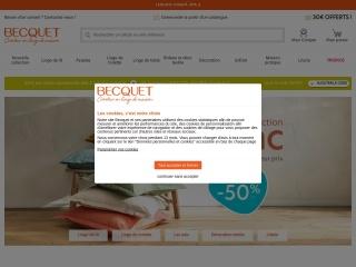Capture d'écran pour becquet.fr