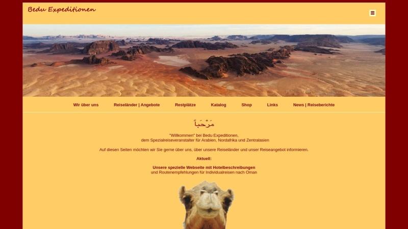 www.bedu.de Vorschau, Bedu Expeditionen