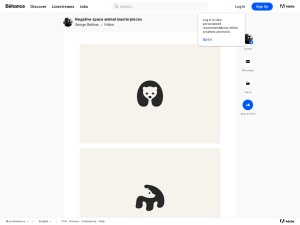 Negative space animal masterpieces on Behanceのスクリーンショット