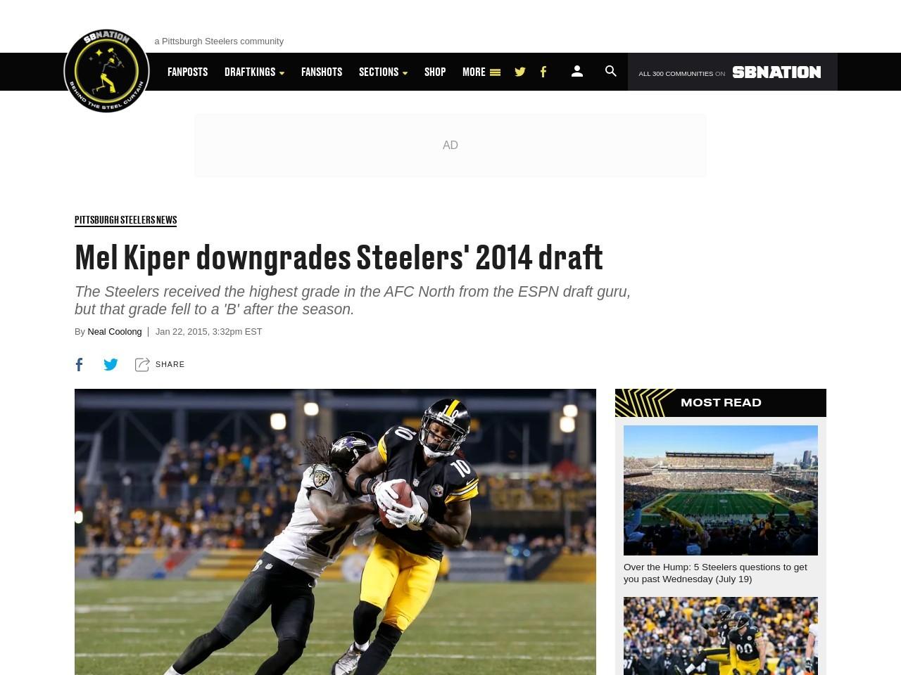 Mel Kiper downgrades Steelers' 2014 draft – Behind the …