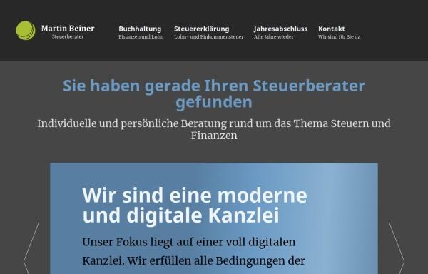 Vorschau von www.beiner-steuerberater.de, Steuerberater Martin Beiner