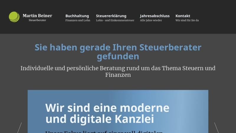www.beiner-steuerberater.de Vorschau, Steuerberater Martin Beiner